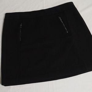 Ann Taylor Black Mini Skirt with pockets s…